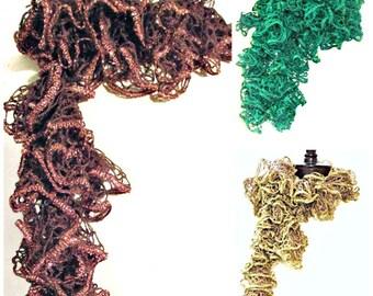Knit Ruffled Scarves Bling Bling