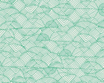 valley of evergreen leah duncan / art gallery fabrics / picnic by the hills / fabric by the yard / woodland nursery fabric / quilting cotton