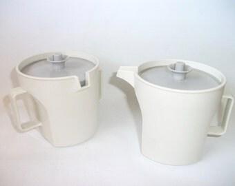 Vintage Tupperware Cream and Sugar Set