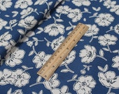 4215 - Cath Kidston Mono Poppies (Dark Blue) Cotton Canvas Fabric - 57 Inch (Width) x 1/2 Yard (Length)