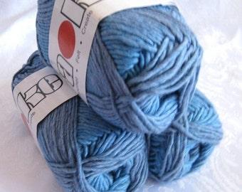 50% off - Sapphire blue Soy silk wool yarn,  worsted weight, SWTC Karaoke yarn, Bluezzz 283