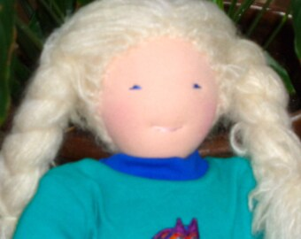 Waldorf Doll 16 inch All Natural Soft Sculpture Doll