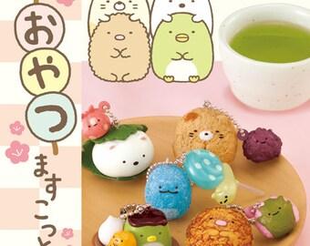Limited Stock 8pcs  Sumikkogurashi Japanese Sweets Mascot Charm
