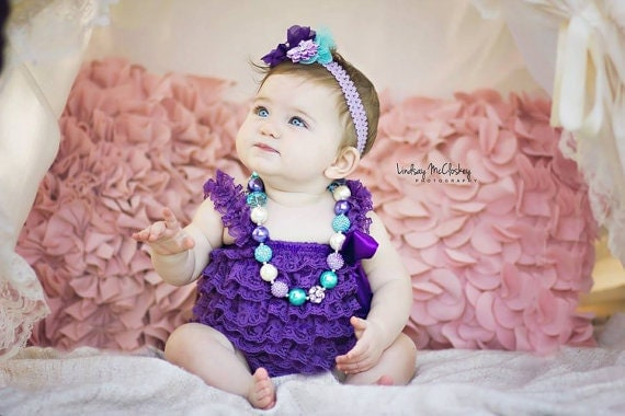Cake Smash Outfit Girl Purple Lace