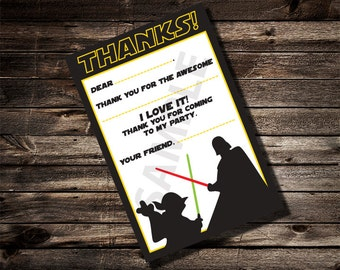 Star Wars Fill in the blank Thank You Note