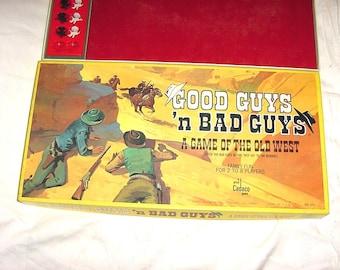 Vintage 70s Good Guys N Bad Guys Cowboy Game of Old West