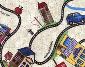 Row by Row 2016 Road Trip Map Cotton Fabric Timeless Treasures 1 Yard