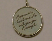 Hope in the Lord Christian/Inspirational Pendant Charm