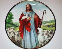 """8"""" The Lord is My Shepherd by Alton S Tobey Limited Edition Collector's Plate - Franklin Mint Vintage Porcelain"""