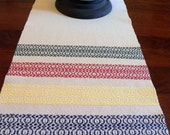 Handwoven Table Runner, Table Scarf in Iconic Blanket Style by Frederick Avenue