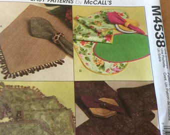 M4538 Table Accessories, Runners, Placemats, Napkins, Uncut