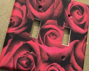 Rose Romantic Switchplate outlet Double Triple Quad Rocker Dimmer Blank Cable Vampire Florist anniversary
