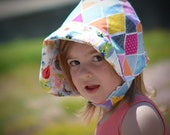 UB2 WHOOOMANIA a richly-toned, rainbow-honed, owl-hootin' baby summer sun hat, by Urban Baby Bonnets (all sizes)