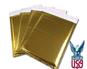 """Size #0 (6.5""""x9"""") Gold Foil Bubble Mailer - Free Shipping!"""