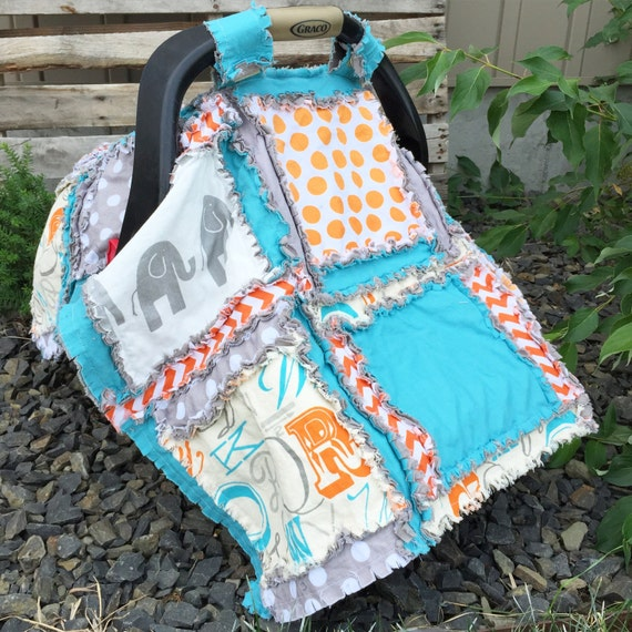 Carseat Canopy Pattern - Easy Peasy Rag Quilt Pattern - Carseat Cover Pattern - Gifts for Girls - Gifts for Boys - Baby Quilt Pattern