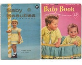 Lot of 2 1950s Vintage Baby Knit and Crochet Pattern Booklets