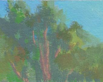 original landscape painting / tree wall art