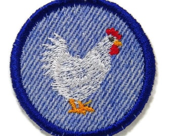 CHICKENS    Iron-on Badges or Patches