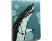 Shark Fridge Magnet / Ocean Magnet / Great White Shark Fridge Magnet / Ocean Kitchen Decor / Bubbles Home Decor / Shark Lover Gift