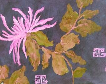 Chrysanthemum Purple print