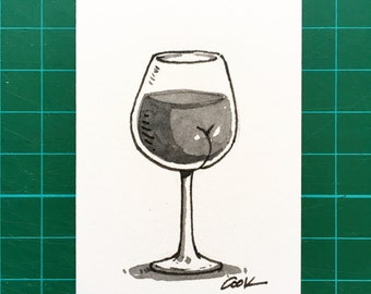 Wine with a BUTT mini illustration