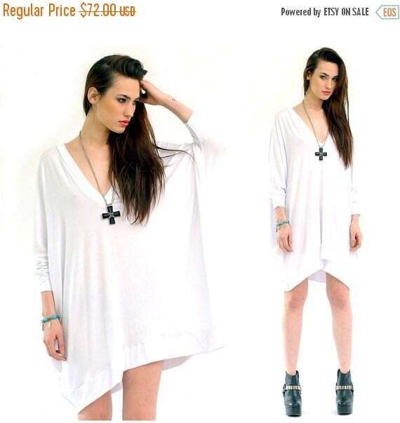 SALE 20% BABOOSHKA Oversized Asymmetrical T-Shirt Dress  (colors)