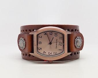 Women watch. leather cuff watch.cuff watch.wrist watch.