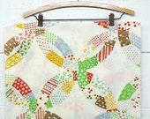 vintage | quilt patchwork daisy print pillow case