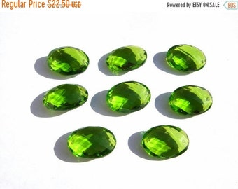 55% OFF SALE 2 Pcs 1 Match Pair 20x14mm AAA Peridot Quartz Faceted Oval Briolette (Drill hole you choose)
