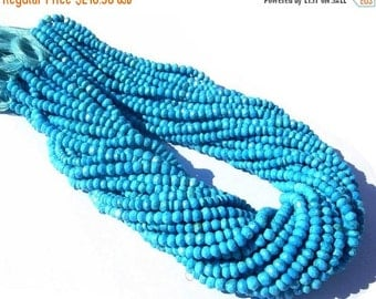 55% OFF SALE Buy Wholesale Lot - 5x14 - 70 Inches Sleeping Beauty Genuine Turquoise Micro Faceted Rondelles Size 3.5 - 4mm