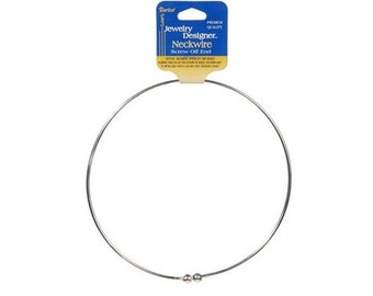 Nickel Silver Neckwire Necklace with Screw Off End - Silver Tone - Jewelry fnt