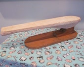 Vintage Sleeve Ironing Board - Rustic Wood Tabletop - Shabby Farmhouse Kitchen