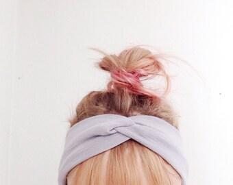 TopTwist Headband - Headwrap - Twist Headband - Turban headband - Gray - Grey - Stretch Headband