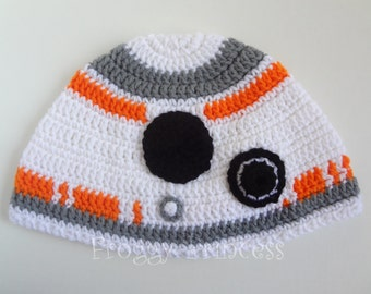 Star Wars Inspired BB-8 Hat Adult or Teen Size Hand Crocheted