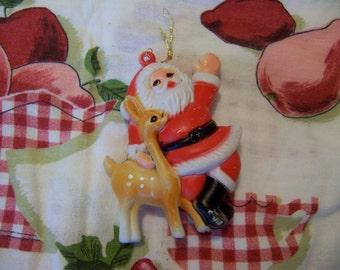 santa and his little deer ornament