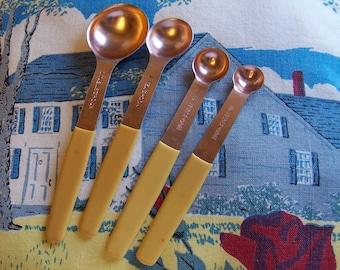 handy vintage copper measuring spoons