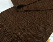 chocolate & caramel: handwoven plaid scarf
