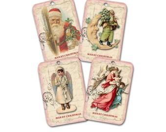 Christmas Tag Assortment, Merry Christmas, Santa Tag, Angel Tag, Pink  Tag, Christmas Gift Tag, Tree Tag Ornament, Keepsake tag