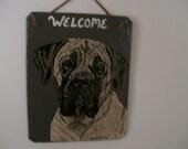 English  Mastiff Welcome Slate