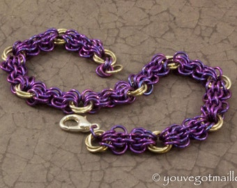 So Purple Iridescent Chainmaille Bracelet