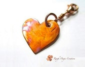 Heart Key Chain, Copper Heart, Metal Keychain for Her, Phone Charm, Purse Charm, Key Chains for Women, Stocking Stuffers, Gift for My Wife