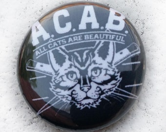 ACAB All Cats Blades 1 inch Button