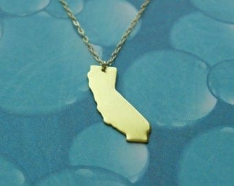 gold california love necklace - customize with the heart in your city