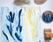 Foliage Study - Small Abstract - Original Acrylic Painting on Wood Panel