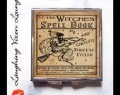 Witch Magic Potion Compact Mirror - Fortune Teller Magic Spell Pill Box - Witches Spell Book Pill Case - Purse Mirror - Makeup Mirror