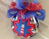 Lighthouse Quilted Star Christmas Ornament, Teacher Gift, Christmas Gift, Stocking Stuffer, Hostess Gift, Secret Santa