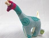 Wrap Scrap Teething Giraffe - Lenny Lamb Mint Lace