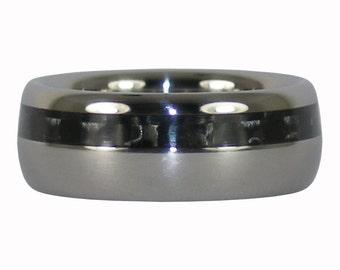 Black Carbon Fiber Titanium Ring