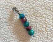 Chrysocolla and Ruby Planner Charm