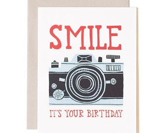 Smile, It's Your Birthday Illustrated Card // 1canoe2